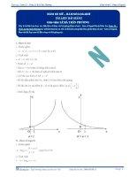 Hàm số mũ, hàm số Logarit - Tài liệu Toán 12