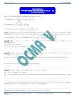 Một số dạng toán khác về Con lắc lò xo - Tài liệu - Vật lý 12