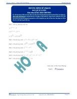 Phương trình mũ - Bài tập tự luyện Toán 12 - P1