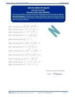 Phương trình mũ - Bài tập tự luyện Toán 12 - P4