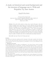 A study on historical and social background and the newness of language use in 'Pride and Prejudice' by Jane Austen