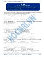Đề thi môn Tiếng Anh - Khóa học LTĐH KIT-2 (Cô Nguyễn Ngọc Anh) - Đề 5