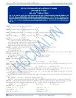 Lý thuyết trọng tâm và bài tập về Ankin - Trắc nghiệm Hóa học 12