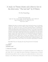 A study on Theme-rheme and cohesive ties in the short story The last leaf by O'Henry