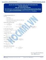 Các phương pháp tính Nguyên hàm - Tài liệu Toán 12 - P3