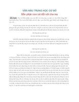 VĂN MẪU THCS - ĐỀ BÀI Bổn phận con cái đối với cha mẹ