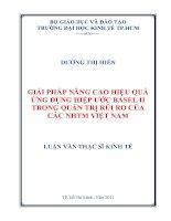 Giải pháp nâng cao hiệu quả ứng dụng hiệp ước Basel II trong quản trị rủi ro của các ngân hàng thương mại Việt Nam