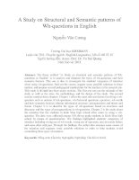 A Study on Structural and Semantic patterns of Wh-questions in English