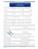 Luyện tập tổng hợp về mạch điện xoay chiều - Trắc nghiệm Vật lý 12 - P1