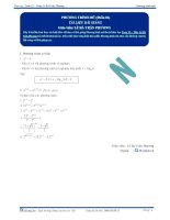 Phương trình mũ - Tài liệu Toán 12 - P1