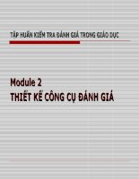 Tập huấn Kiểm tra đánh giá trong giáo dục - Module Thiết kế công cụ đánh giá
