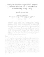 A study on connotative equivalence between Gone with the wind and its translation in Vietnamese by Duong Tuong