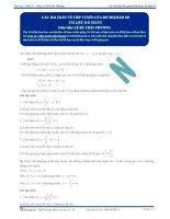 Tiếp tuyến của Đồ thị hàm số - Tài liệu Toán 12