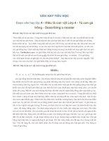 VĂN HAY TIỂU HỌC Đoạn văn hay lớp 4 - Miêu tả con vật Lớp 4 - Tả con gà trống - Describing a rooster