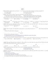Tuyển tập đề ôn thi THPT quốc gia môn vật lý (có đáp án)