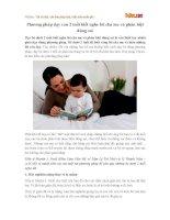 Phương pháp dạy con 2 tuổi biết nghe lời cha mẹ và phân biệt đúng sai