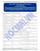 Phương pháp giải toán sử dụng phương trình ion thu gọn - Trắc nghiệm Hóa học 12