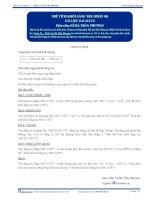 Thể tích khối lăng trụ - Tài liệu Toán 12 - P1