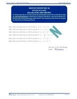 Khảo sát hàm số bậc ba - Bài tập tự luyện Toán 12