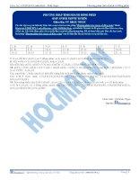 Đáp án -  Phương pháp tính nhanh số đồng phân - Trắc nghiệm Hóa học 12