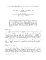 Factors Influencing Integration of ICT in Higher Education in Vietnam