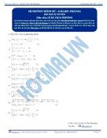 Hệ phương trình Mũ, Logarit - Bài tập tự luyện Toán 12 - P1