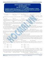 Độ bất bão hòa và ứng dụng - Trắc nghiệm Hóa học 12