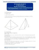 Thể tích khối Chóp - Tài liệu Toán 12 - P1