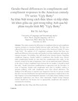 Gender-based differences in compliments and compliment responses in the American comedy TV-series Ugly Betty