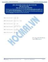 Tích phân có dấu giá trị tuyệt đối -  Bài tập tự luyện Toán 12 - P1
