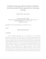 English-language gifted students' attitudes towards project-based approach to learning writing