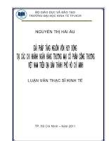 Giải pháp tăng nguồn vốn huy động tại các chi nhánh ngân hàng thương mại cổ phần công thương Việt Nam trên địa bàn thành phố Hồ Chí Minh
