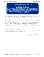 Các vấn đề về Khoảng cách - Bài tập tự luyện Toán 12 - P4