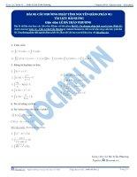 Các phương pháp tính Nguyên hàm - Tài liệu Toán 12 - P1