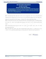 Thể tích khối Chóp -  Bài tập tự luyện Toán 12 - P4
