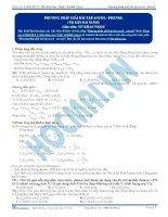 Phương pháp giải các bài tập đặc trưng về ancol – phenol - Tài liệu Hóa học 12