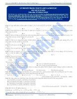 Lý thuyết trọng tâm về axit cacboxylic - Trắc nghiệm Hóa học 12