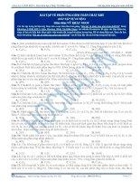 Bài tập về phản ứng gồm toàn chất khí - Trắc nghiệm Hóa học 12