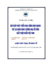 Giải pháp phát triển hoạt động kinh doanh thẻ tại ngân hàng thương mại cổ phần xuất khẩu Việt Nam