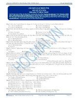 Các quy luật phản ứng - Trắc nghiệm Hóa học 12