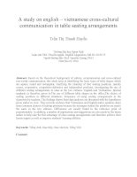 A study on english – vietnamese cross-cultural communication in table seating arrangements
