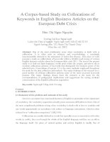 A Corpus-based Study on Collocations of Keywords in English Business Articles on the European Debt Crisis