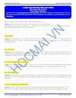 Luyện tập về phản ứng hạt nhân - Tài liệu Vật lý 12