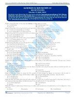 Danh pháp các hợp chất hữu cơ - Trắc nghiệm Hóa học 12