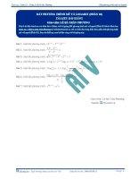Bất phương trình Mũ và Logarit - Tài liệu Toán 12 -P3