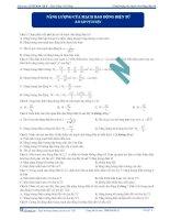 Năng lượng của mạch dao động điện từ - Trắc nghiệm Vật lý 12