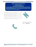 Khảo sát hàm số trùng phương - Bài tập tự luyện Toán 12