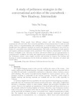 A study of politeness strategies in the conversational activities of the coursebook - New Headway, Intermediate