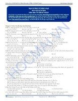 Đại cương về kim loại - Trắc nghiệm Hóa học 12