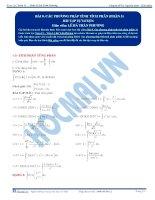 Các phương pháp tính Tích phân - Bài tập tự luyện Toán 12 - P3